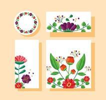 guarde a data floral casamento definido vetor