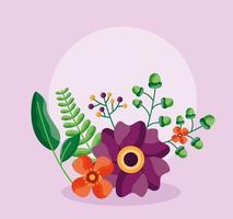 salvar a data cartão de casamento floral