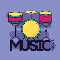 fundo festival de música clássica bateria vetor