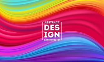 modelo de design de cartaz de fluxo colorido abstrato vetor