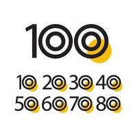 Ilustração de design de modelo vetorial celebração de aniversário de 100 anos