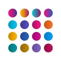 paleta de cores gradiente guias ilustração vetorial de modelo