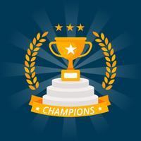 Campeão Vencedor Design Vector