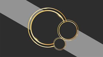 desenho de vetor de círculo abstrato com anel de ouro em fundo cinza