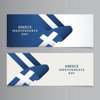ilustração de design de modelo vetorial feliz celebração do dia da independência da Grécia
