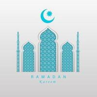 banner horizontal conceito ramadan kareem vetor