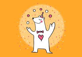 bonito urso polar de circo vetor