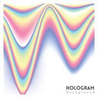 Fundo de vetor holográfico