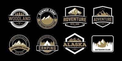 emblema de aventura e logotipos para camiseta, emblema, adesivo e mercadoria vetor