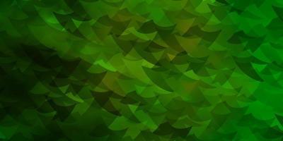 padrão de vetor verde claro com estilo poligonal com cubos.