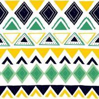 padrão listrado sem emenda. motivos étnicos e tribais. impressão vintage, textura do grunge. estilo asteca, africano, asiático, indiano e maia. listras geométricas boêmias mão desenhada ilustração vetorial. vetor