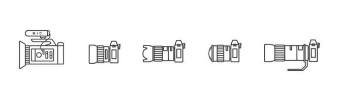 conjunto de ícones de câmera