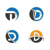 imagens do logotipo da letra d vetor