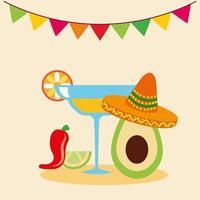 desenho vetorial de tequila mexicana vetor