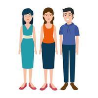 grupo de personagens jovens de avatar vetor