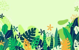 planta tropical com fundo verde claro vetor