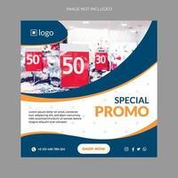 modelo de design de banner moderno de promoção especial vetor