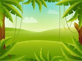 fundo de desenho animado da selva vetor