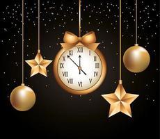 feliz ano novo desenho vetorial vetor