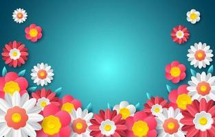 flores coloridas com efeito dimensional vetor