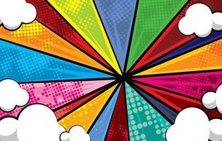 conceito de fundo arco-íris pop art vetor