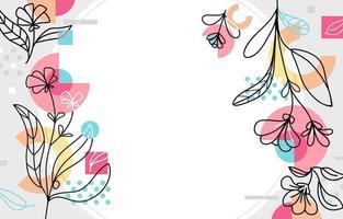 fundo floral memphis primavera vetor