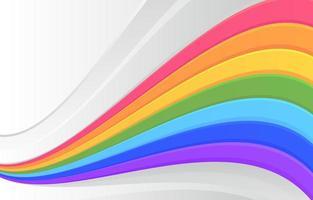 fluxo do arco-íris e fundo branco vetor