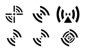 conjunto de ícones wi-fi criativos vetor