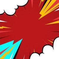 fundo vermelho com zoom em quadrinhos vetor