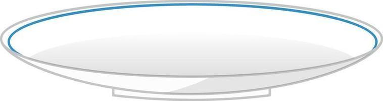tigela em branco isolada no fundo branco vetor