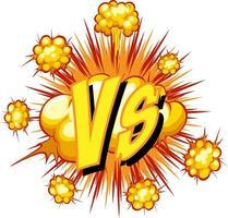 balão de fala em quadrinhos com vs texto vetor
