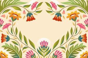 fundo gradiente floral primavera vetor