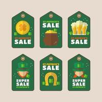 promoção de super venda temática de saint patrick vetor