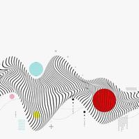 fundo geométrico de onda futurista vetor