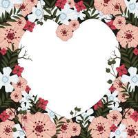 conceito de fundo de flores para namorados vetor