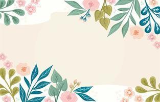 mão desenhada fundo floral vetor
