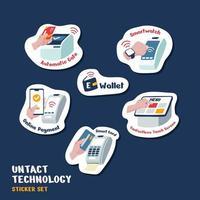 adesivo de tecnologia não intacta vetor
