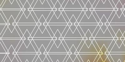 textura vector laranja claro com estilo triangular.