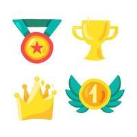símbolo de prêmio e vencedor no esporte, no show business e na vida vetor