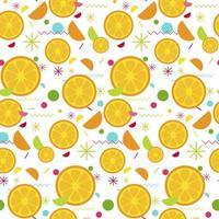 doce padrão sem emenda de laranja saborosa vetor