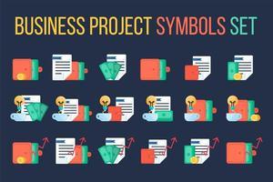 conjunto de símbolos financeiros