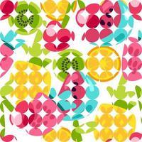 padrões de frutas de verão vetor