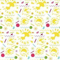 moda memphis brilhante sem costura padrão com sol