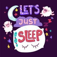 vamos apenas dormir vetor