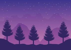 cena de paisagem florestal com sede de viagens