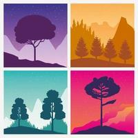 cenário de paisagens wanderlust definido