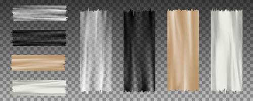 conjunto de fita adesiva de vetor transparente