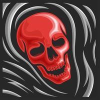 logotipo do crânio do ceifador vetor