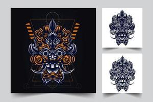 ilustração de arte da cultura indonésio