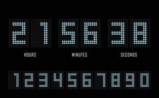 cronômetro de relógio digital de modelo plano site de contagem regressiva.